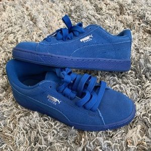 All Blue Suede Pumas